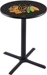 Chicago Blackhawks NHL Blk Pub Table X Style Base