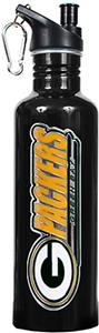 NFL Green Bay Packers Black Stainless Water Bottle