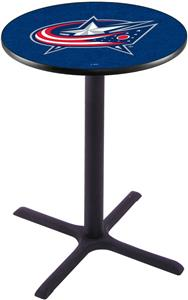 Columbus Blue Jackets NHL Pub Table X Style Base