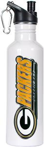 NFL Green Bay Packers White Stainless Water Bottle