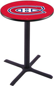 Montreal Canadiens NHL Pub Table X Style Base