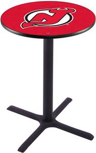New Jersey Devils NHL Pub Table X Style Base
