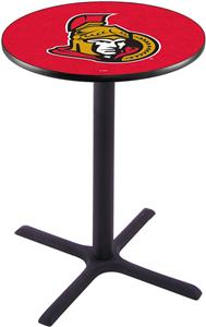 Ottawa Senators NHL Pub Table X Style Base