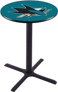 San Jose Sharks NHL Pub Table X Style Base