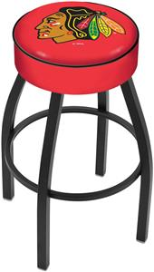 Chicago Blackhawks Red NHL Blk or Chrome Bar Stool