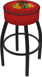 Chicago Blackhawks Blk NHL Blk or Chrome Bar Stool