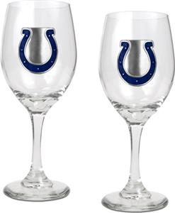 NFL Indianapolis Colts 2 Piece Wine Glass Set