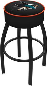 San Jose Sharks NHL Blk or Chrome Bar Stool