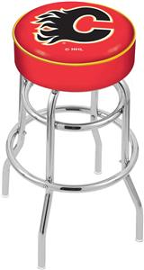 Calgary Flames NHL Double-Ring Bar Stool