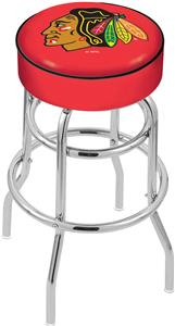 Chicago Blackhawks Red NHL Double-Ring Bar Stool