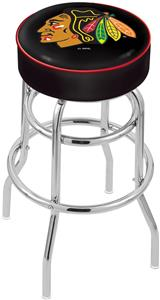 Chicago Blackhawks Blk NHL Double-Ring Bar Stool