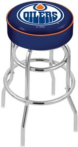Edmonton Oilers NHL Double-Ring Bar Stool