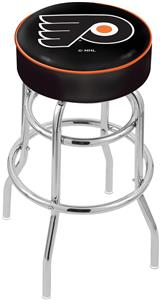 Philadelphia Flyers Blk NHL Double-Ring Bar Stool