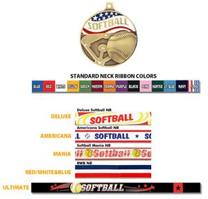Hasty Awards Americana Softball Medals
