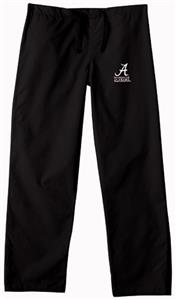 University of Alabama Black Classic Scrub Pants