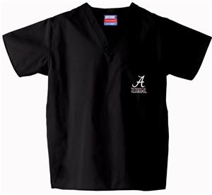 University of Alabama Black Classic Scrub Tops