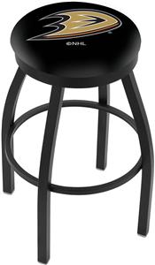 Anaheim Ducks NHL Flat Ring Blk Bar Stool