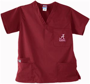University of Alabama Crimson 3-Pocket Scrub Tops
