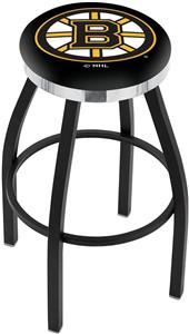 Boston Bruins NHL Flat Ring Blk Bar Stool
