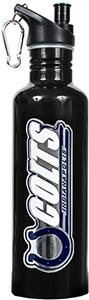 NFL Colts Black Stainless Water Bottle