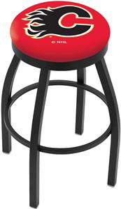 Calgary Flames NHL Flat Ring Blk Bar Stool