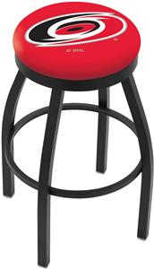 Carolina Hurricanes NHL Flat Ring Blk Bar Stool