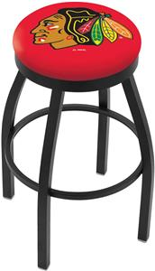 Chicago Blackhawks Red NHL Flat Ring Blk Bar Stool