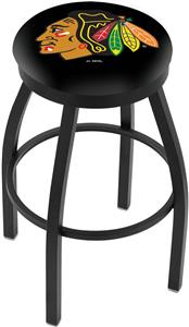 Chicago Blackhawks Blk NHL Flat Ring Blk Bar Stool