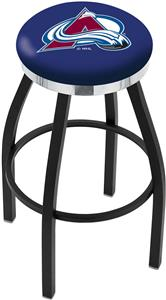 Colorado Avalanche NHL Flat Ring Blk Bar Stool