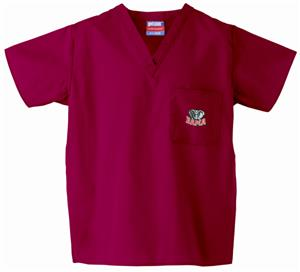 Univ of Alabama Elephant Crimson Scrub Tops