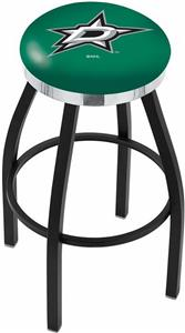 Dallas Stars NHL Flat Ring Blk Bar Stool