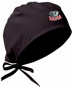 Univ of Alabama Elephant Black Surgical Caps