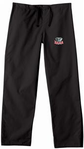 Univ of Alabama Elephant Black Scrub Pants