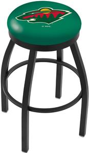 Minnesota Wild NHL Flat Ring Blk Bar Stool