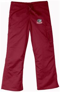 Univ of Alabama Elephant Crimson Cargo Scrub Pants