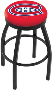 Montreal Canadiens NHL Flat Ring Blk Bar Stool