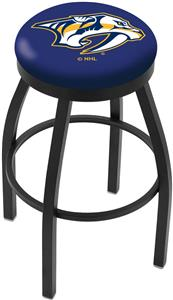 Nashville Predators NHL Flat Ring Blk Bar Stool
