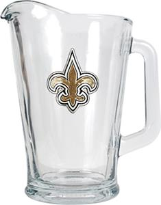 NFL New Orleans Saints 1/2 Gallon Glass Pitcher