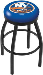 New York Islanders NHL Flat Ring Blk Bar Stool
