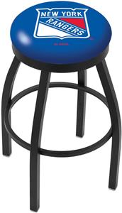 New York Rangers NHL Flat Ring Blk Bar Stool