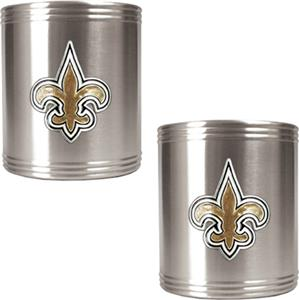 NFL New Orleans Saints Stainless Steel Can Holders