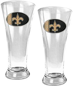 NFL New Orleans Saints 2 Piece Pilsner Glass Set