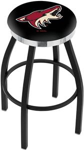 Phoenix Coyotes NHL Flat Ring Blk Bar Stool
