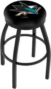 San Jose Sharks NHL Flat Ring Blk Bar Stool
