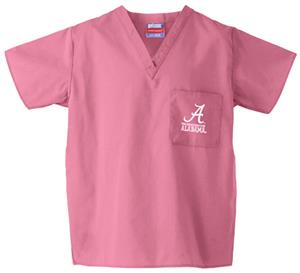 University of Alabama Pink Classic Scrub Tops