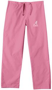 University of Alabama Pink Cargo Scrub Pants