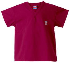 University of Alabama Kids Logo Crimson Scrub Tops