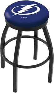 Tampa Bay Lightning NHL Flat Ring Blk Bar Stool