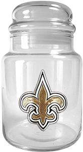 NFL New Orleans Saints Glass Candy Jar