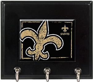 NFL New Orleans Saints Wood Keyhook Rack